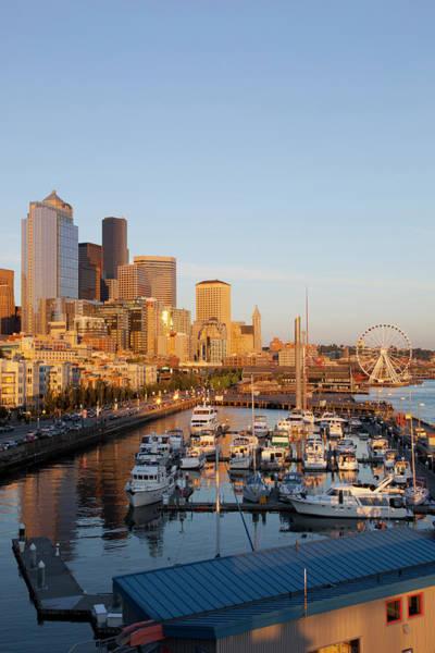 Elliott Photograph - Wa, Seattle, The Seattle Great Wheel by Jamie and Judy Wild