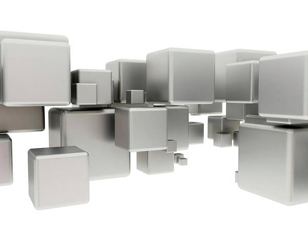 Wall Art - Photograph - White Cubes by Jesper Klausen / Science Photo Library