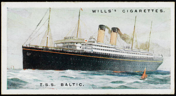 1924 Drawing - White Star Liner On The  Atlantic by Mary Evans Picture Library