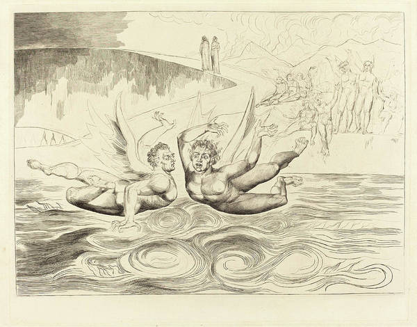 Wall Art - Drawing - William Blake British, 1757 - 1827, The Circle by Quint Lox