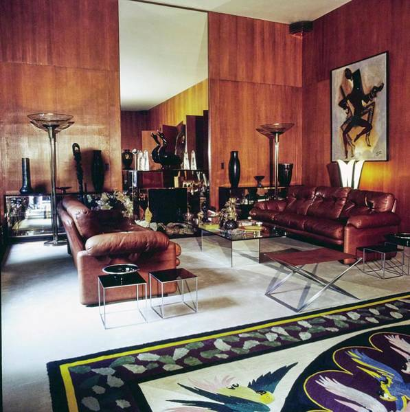 Wall Art - Photograph - Yves Saint Laurent's Living Room by Horst P. Horst