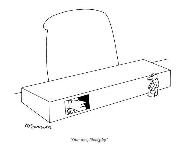 Hierarchy Drawing - Over Here, Billingsley by Charles Barsotti