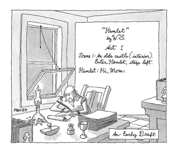Early Drawing - New Yorker August 4th, 2008 by Jack Ziegler
