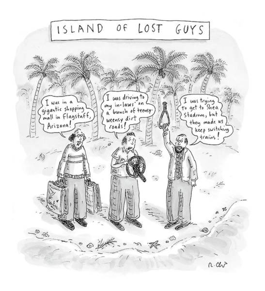 Machismo Drawing - New Yorker December 25th, 2006 by Roz Chast