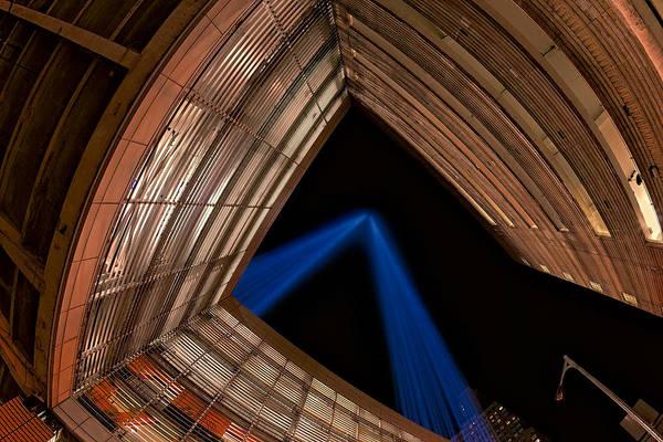 Photograph - 911 Light Beams by Susan Candelario