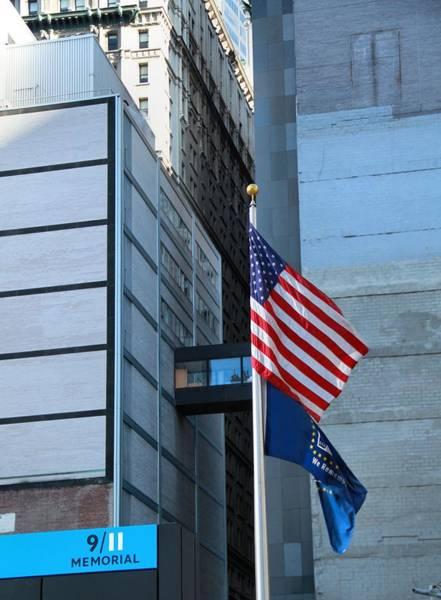 Photograph - 911 Memorial Flags by Dan Sproul