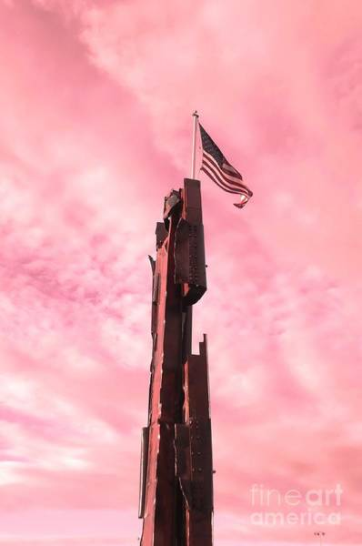 Hijack Wall Art - Photograph - 911 Memorial Sky by Ann Johndro-Collins