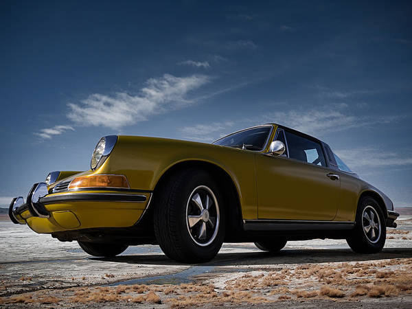 Golden Digital Art - 911 Targa by Douglas Pittman
