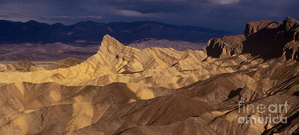 Zabriski Point Photograph - 915000004 Panoramic Manly Beacon Zabriski Point Death Valley Nat by Dave Welling