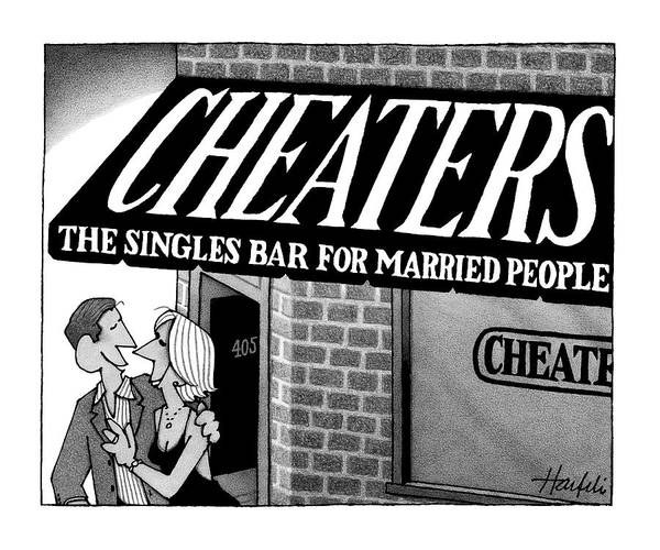 Drawing - Cheaters by William Haefeli
