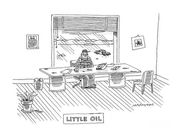 Little Drawing - New Yorker February 4th, 2008 by Mick Stevens