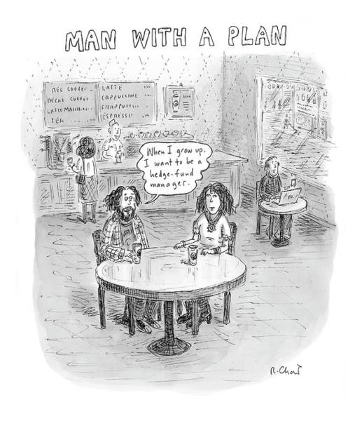 Wealth Drawing - New Yorker April 9th, 2007 by Roz Chast
