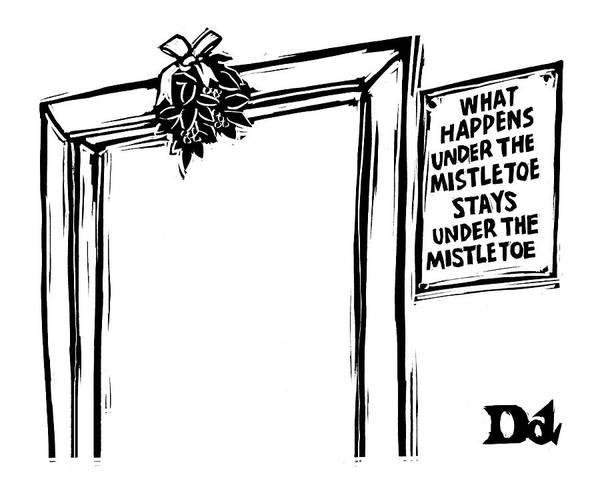 Sign Photograph - New Yorker December 20th, 2004 by Drew Dernavich