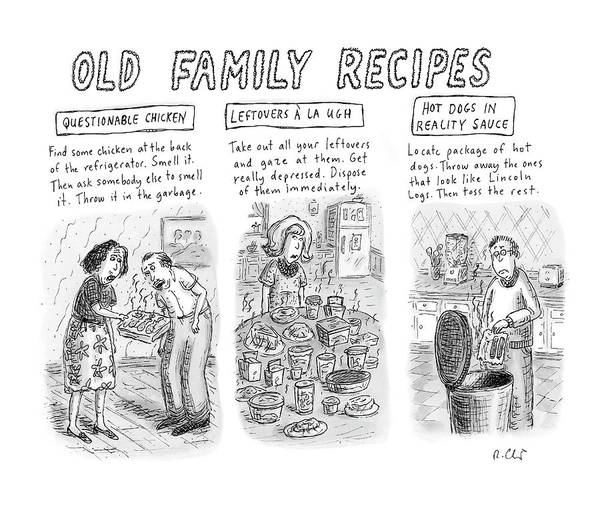 Cook Drawing - New Yorker June 25th, 2007 by Roz Chast