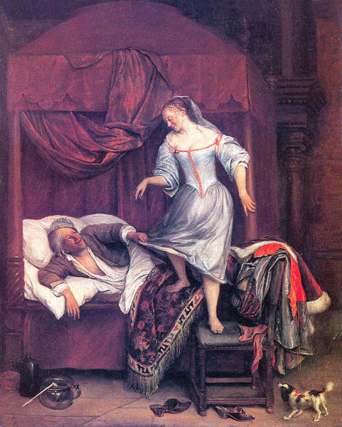 Painting - The Seduction by Jan Steen