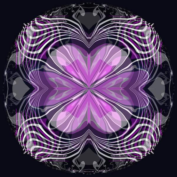 Pink And White Digital Art - 961 - Kaleidoscope  3 by Irmgard Schoendorf Welch