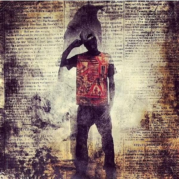 Death Wall Art - Photograph - Instagram Photo by Kid Death