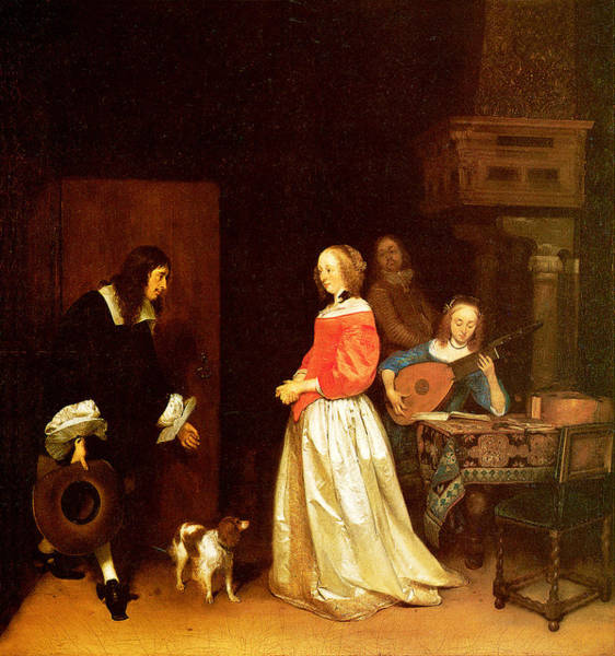 Painting - The Suitors Visit by Gerard Terborch