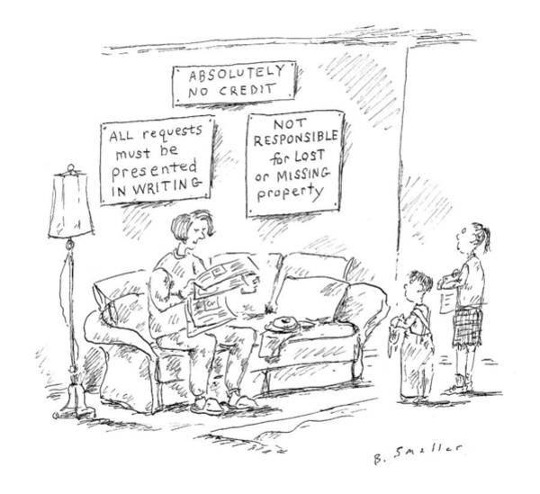 May 8th Drawing - New Yorker May 8th, 2000 by Barbara Smaller