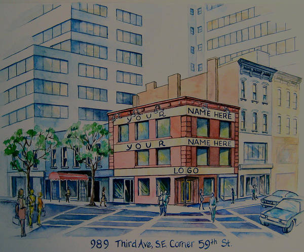 Painting - 989 Third Avenue by Nancy Wait