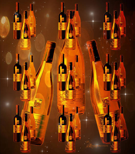 Digital Art - 99 Bottles Of Booze On The Wall - Featured In Visions Of The Night And Comfortable Art Groups by Ericamaxine Price