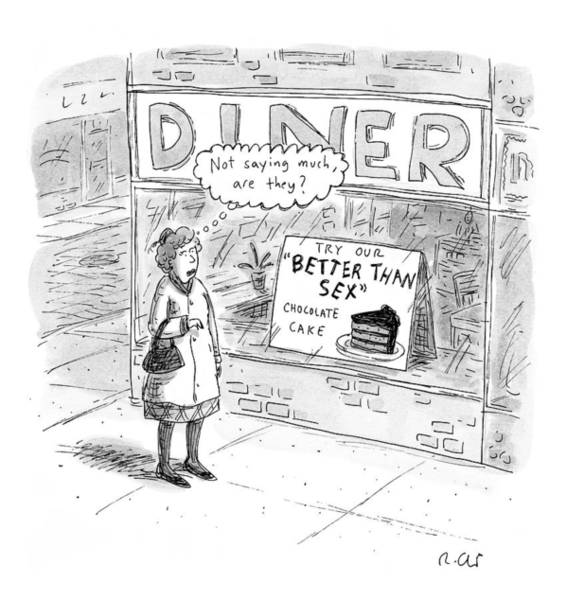 Window Display Drawing - Captionless by Roz Chast