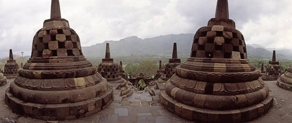 Indonesian Culture Photograph - 9th Century Buddhist Temple Borobudur by Panoramic Images