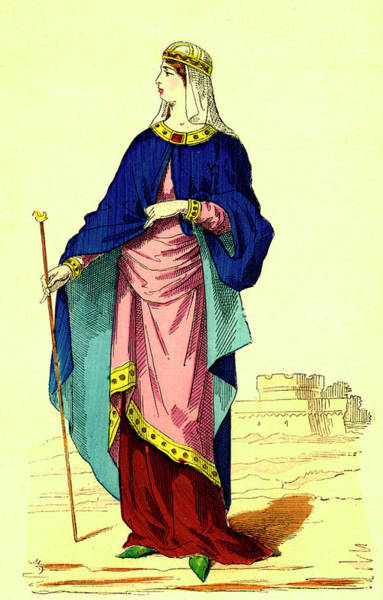 Wall Art - Photograph - 9th Century Carolingian Woman by Collection Abecasis/science Photo Library