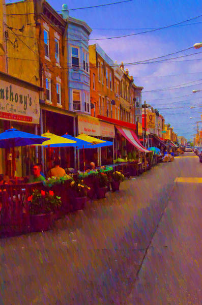 Photograph - 9th Street Italian Market Philadelphia Rendering by Bill Cannon
