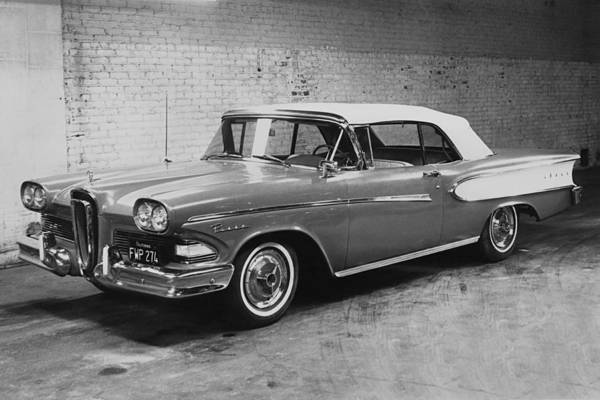 Edsel Photograph - A 1958 Edsel Convertible by Underwood Archives