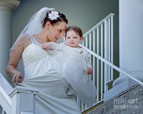 Parenthood Digital Art - A 21st Century Bride by Harold Bonacquist