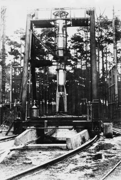 Wall Art - Photograph - A-3 Rocket Test by Library Of Congress/science Photo Library