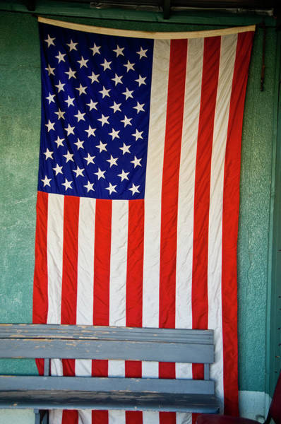 Usa Flag Photograph - A 48 Star American Flag From1959 by Ray Laskowitz