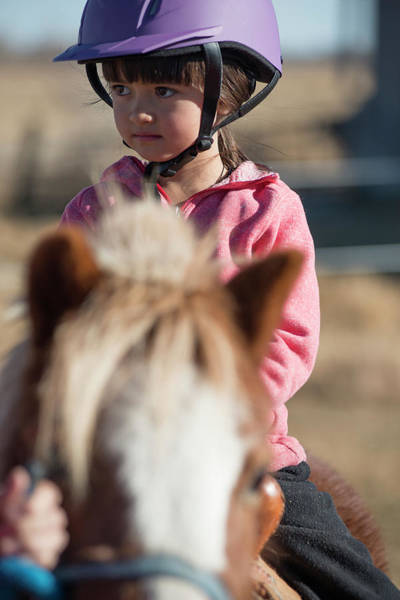 Wall Art - Photograph - A 6 Year Old Cowgirl Rides A Little by Topher Donahue