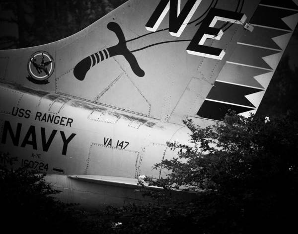Photograph - A-7e Tail by Maggy Marsh