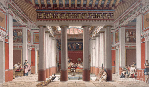 Feast Painting - A Banquet In Ancient Greece by Nordmann