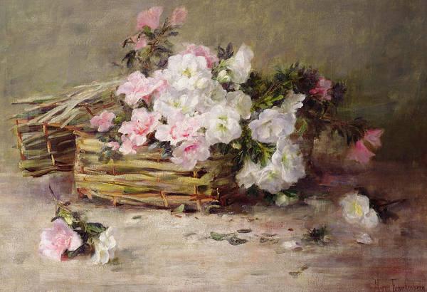 Cut Flowers Wall Art - Painting - A Basket Of Flowers by Margaret von Frankenberg