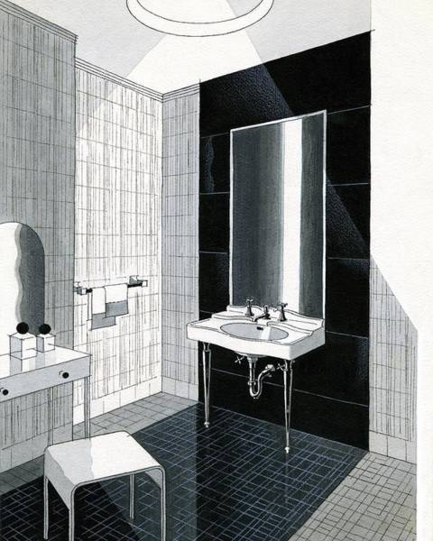 House Digital Art - A Bathroom For Kohler By Ely Jaques Kahn by Urban Weis