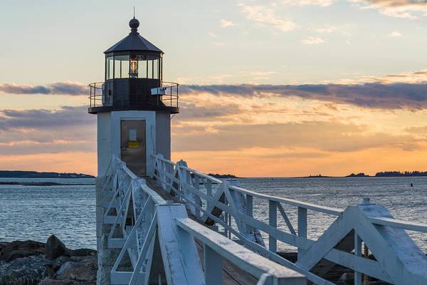 Port Clyde Photograph - A Beacon by Kristopher Schoenleber