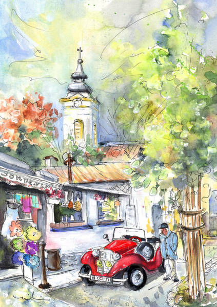 Painting - A Beautiful Car In Szentendre by Miki De Goodaboom