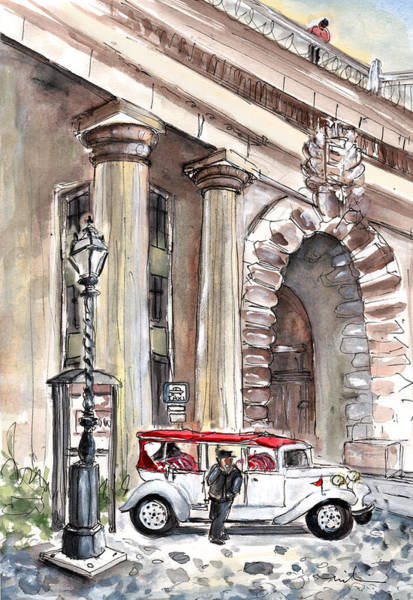 Painting - A Beautiful Taxi In Budapest by Miki De Goodaboom