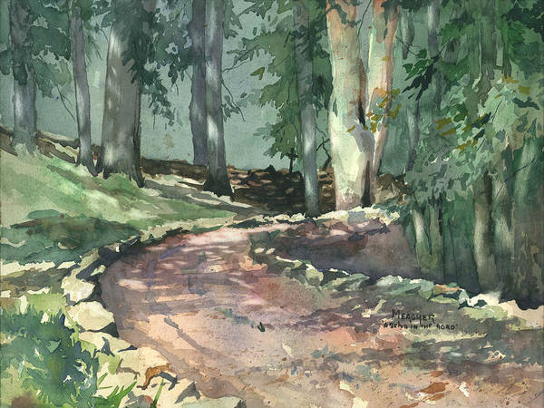 Sycamore Painting - A Bend In The Road by Spencer Meagher