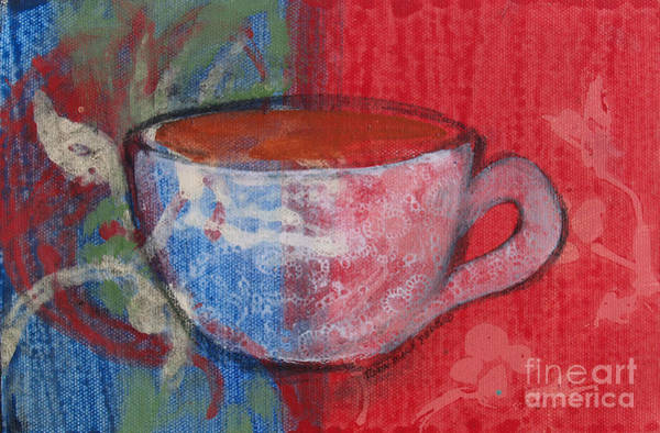 Painting - A Beverage by Robin Maria Pedrero