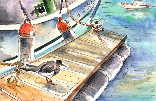 Painting - A Bird In Puerto Carmen In Lanzarote by Miki De Goodaboom