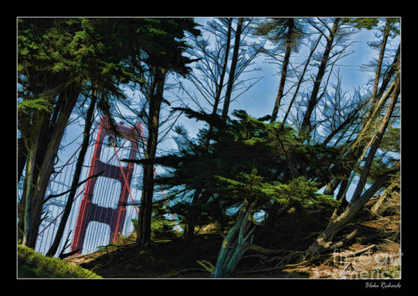 Photograph - A Bit Of The Golden Gate by Blake Richards