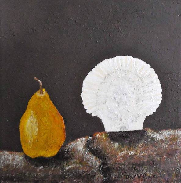 Don Williams Painting - A Blended Delight Of Scalloped And Pear by Don Williams