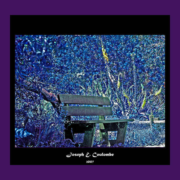 Digital Art - A Blue Bench by Joseph Coulombe