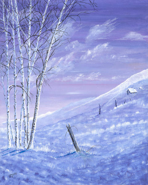 Painting - A Blue Winter by Carl Genovese