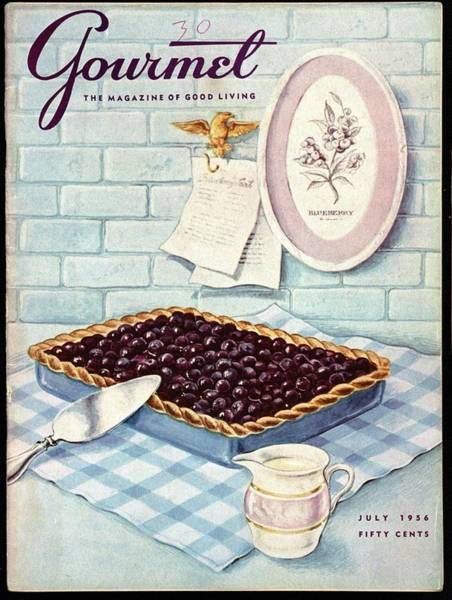 Sweet Photograph - A Blueberry Tart by Hilary Knight