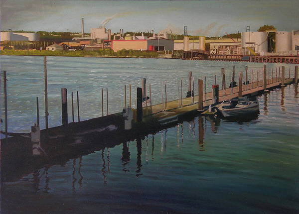 Tacoma Painting - A Boat And A Bird by Thu Nguyen